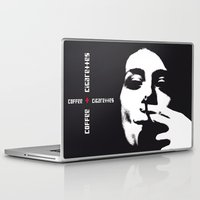 cigarettes Laptop & iPad Skins featuring coffee + cigarettes by Jay Hops :: www.jayhops.de