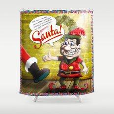 Here's Santa! Shower Curtain