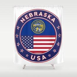 Nebraska, Nebraska t-shirt, Nebraska sticker, Nebraska Poster Shower Curtain