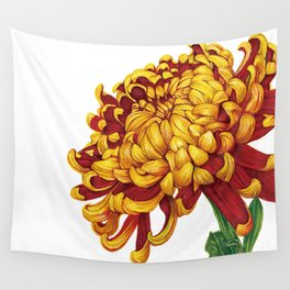 Floral Theme- Chrysanthemum Watercolor Flower Wall Tapestry