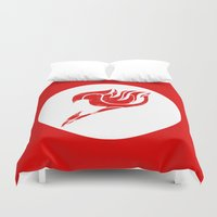 fairy tail Duvet Covers featuring Fairy Tail Segmented Logo circle by JoshBeck