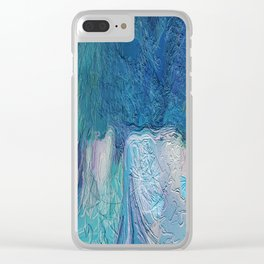 419 - Abstract Colour Design Clear iPhone Case