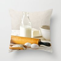cooking Throw Pillows featuring Vintage Cooking by diane555