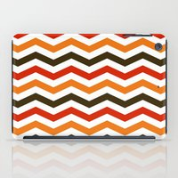 thanksgiving iPad Cases featuring Thanksgiving Chevron by Designs By Misty Blue (Misty Lemons)