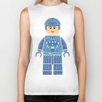 tron Biker Tanks featuring Tron Lego by Ant Atomic