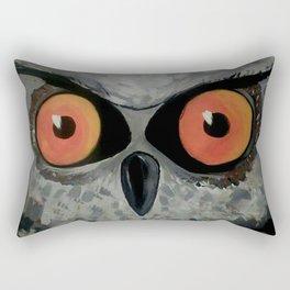 Fierce Owl Rectangular Pillow