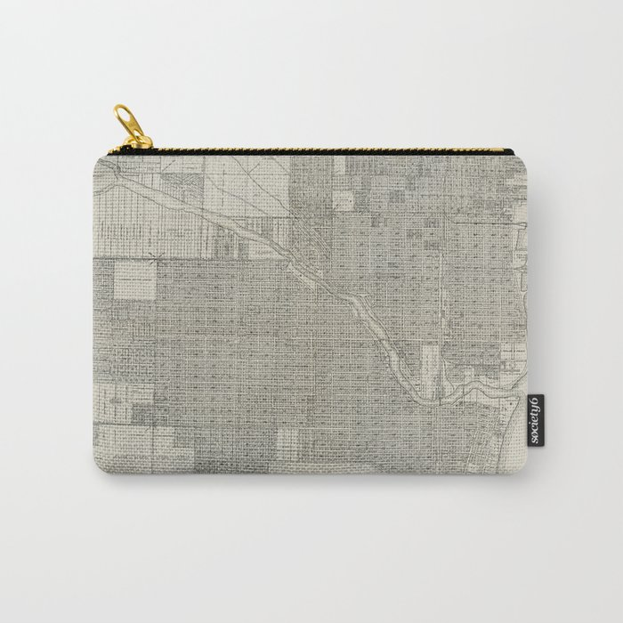 Vintage Map of Miami Florida (1918) Carry-All Pouch