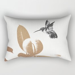 Fluttering Nature III Rectangular Pillow