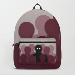 Different And Alone In Crowd Backpack