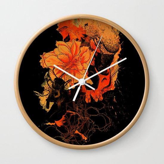 Pollination Dark Fire Wall Clock