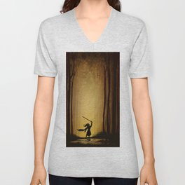 Victory over the darkness Unisex V-Neck