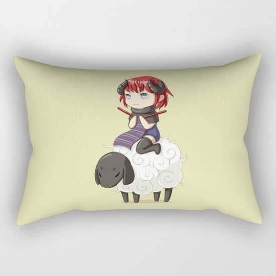 Knitting Adventure Rectangular Pillow