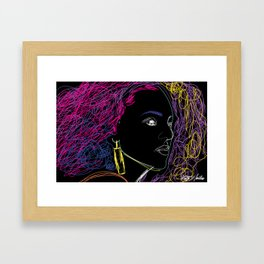 """Line Beauty"" by Keith Moses Wardlaw A.K.A. kmoses215 Framed Art Print"