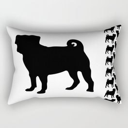 Simple Pug Silhouette Rectangular Pillow