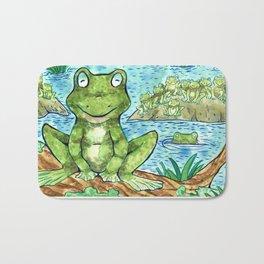 Chillin' Frogs Bath Mat