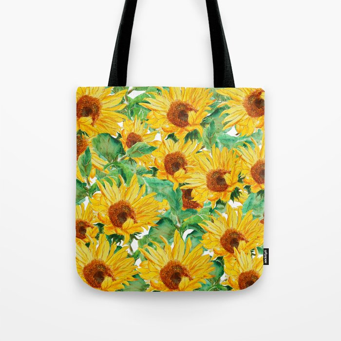 sunflower pattern Tote Bag