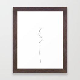 Her Thin Framed Art Print