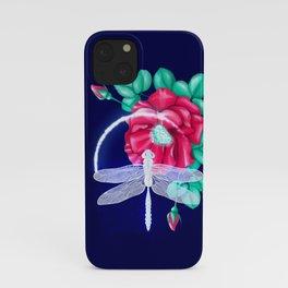 Full bloom | Dragonfly loves roses iPhone Case