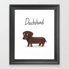 Dachshund - Cute Dog Series Framed Art Print