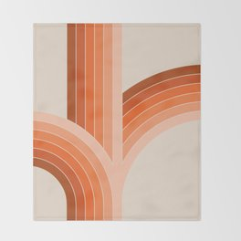 Red Rock Bounce Throw Blanket
