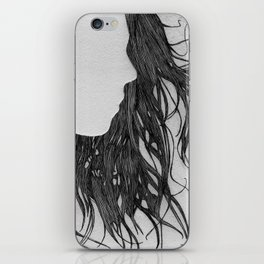 Hair in Profile iPhone Skin