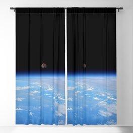Synthwave Space #22: Moon, Earth, horizon, orbit Blackout Curtain
