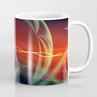 stargate Mugs featuring The Gate Abstract by minx267