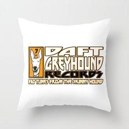 Daft Greyhound Records Throw Pillow