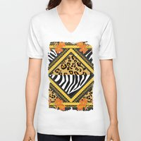 safari V-neck T-shirts featuring Safari Chains by Berberism