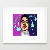 chance the rapper Framed Art Prints featuring Chance The Rapper by BlvckBewty