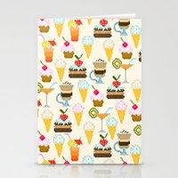 dessert Stationery Cards featuring Dessert by Valendji