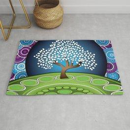Circle Tree Of Life Rug