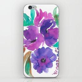 Purple Floral Divinity iPhone Skin