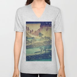 A Valley in the Evening Unisex V-Neck
