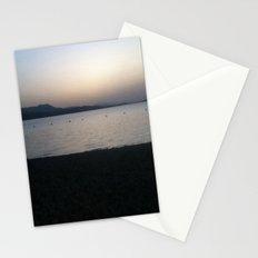 lake dusk Stationery Cards
