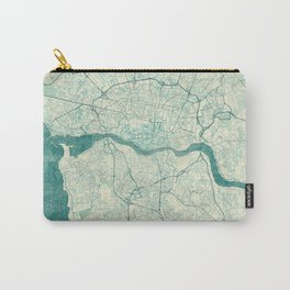 Porto Map Blue Vintage Carry-All Pouch