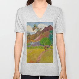 "Paul Gauguin ""Tahitian Landscape"" (2) Unisex V-Neck"