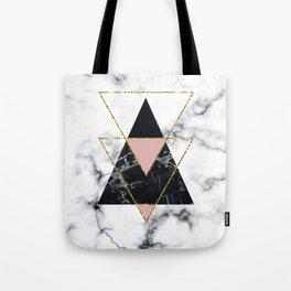 Geo glam marble Tote Bag