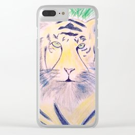 Tiger sketch Clear iPhone Case