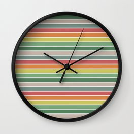 Vintage stripes Wall Clock