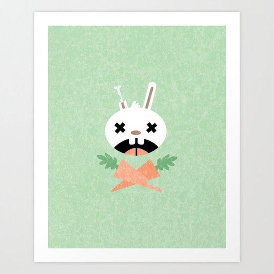 Bunny Death Art Print