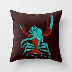 Crabonster Throw Pillow