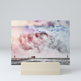 Hot Spring Silhouettes Mini Art Print