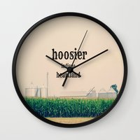 indiana Wall Clocks featuring Indiana by KimberosePhotography