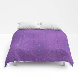 Purple Night Nebula Comforters