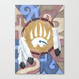 Bear Shield Canvas Print
