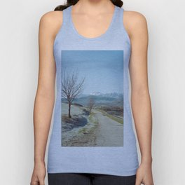 Mountains in the background Unisex Tank Top