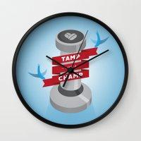 Tamp Like A Champ Wall Clock
