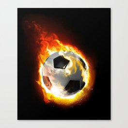 Soccer Fire Ball Canvas Print