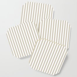 Farmhouse Ticking Stripes in Beige Coaster